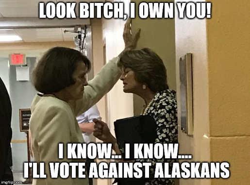 lisa murkowski feinstein i own you ill vote against alaskans