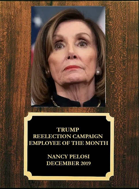 nancy pelosi trump reelection campaign employee of the month