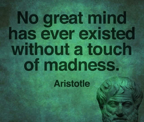 quote aristotle no great mind has ever existed without a touch of madness