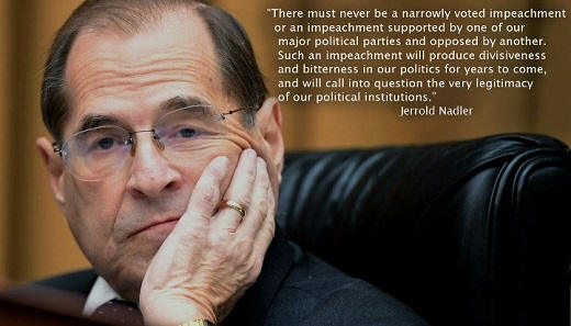 quote jerrold nadler never be impeachment supported by only one party