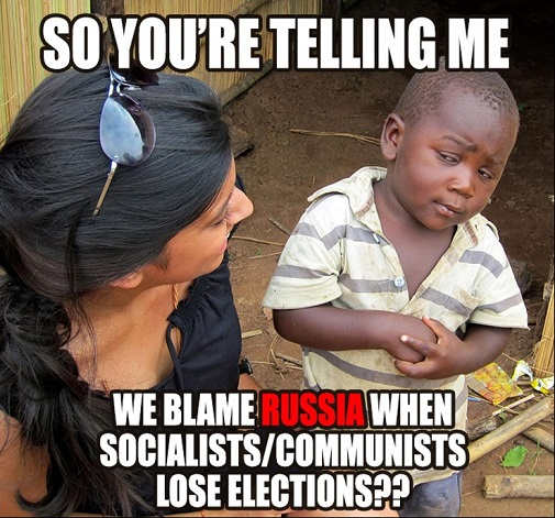so youre telling me we blame russia when socialists communists lose elections