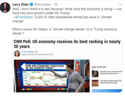 tweet larry elder trump economy denier