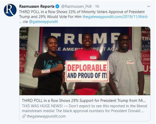 tweet rasmussen poll trump support growing