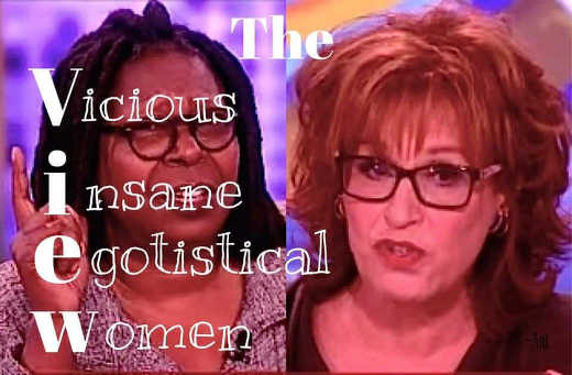 view vicious insane egotistical women whoopi goldberg joy behar
