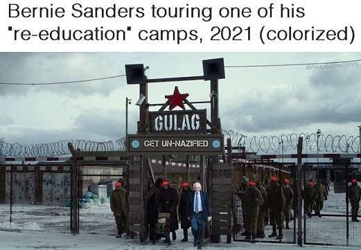 bernie sanders touring re education camp gulags soviet union