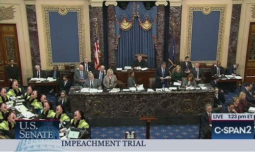 impeachment trial cspan liberal nuts at us senate table