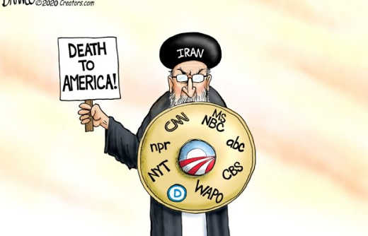 iran death to america shield of cnn msnbc abc cbs new york times washington post npr