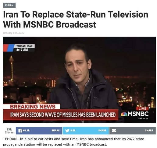 iran to replace state tv with msnbc
