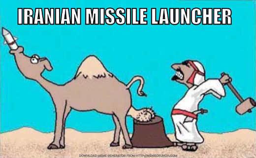 iranian missile launcher camel smash balls