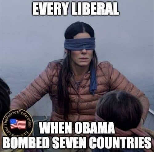 media democrats blind when obama bombed seven countries