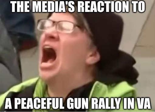 medias reaction to peaceful gun rally liberal screaming