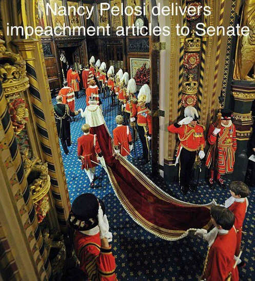 nancy pelosi delivers impeachment royal queen