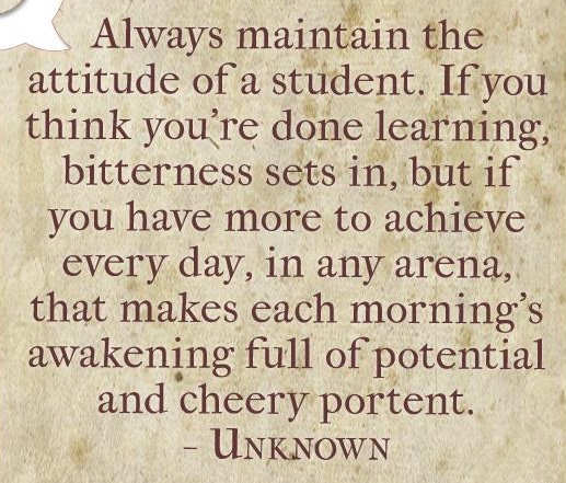 quote always maintain attitude of student learning