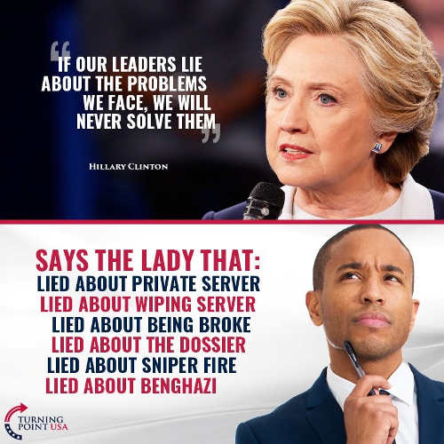 quote hillary clinton leaders lie about problems we face email benghazi sniper fire