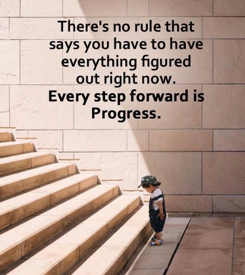 quote theres no rule that says you have to have everything figured out right now