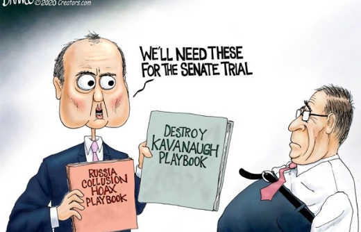schiff nadler we need destroy kavanaugh and russia collusion playbook in senate trial