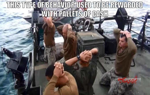 this type of behavior by iran kidnapping soldiers used to be rewarded by obama cash