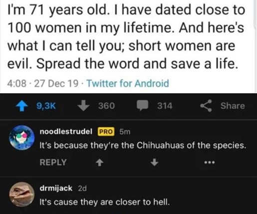 tweet dating short women chihuahuas of species closer to hell