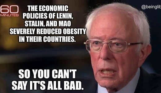 bernie sanders communism worked reducing obesity cant say all bad