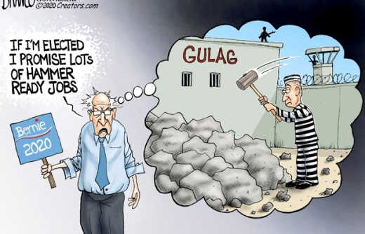 bernie sanders if elected promise lots hammer ready jobs gulag prison