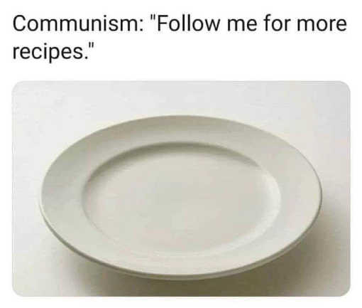 communism empty plate follow me for more recipes