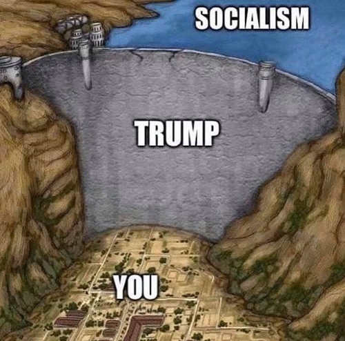 dam trump separating socialism from you