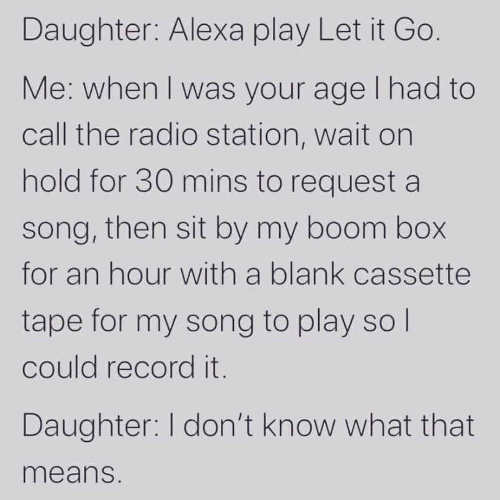 daughter alexis play let it go when i was kid radio station blank cassette