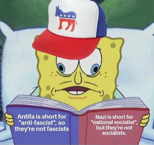 demorats antifa short for anti fascist nazi short for national socialists