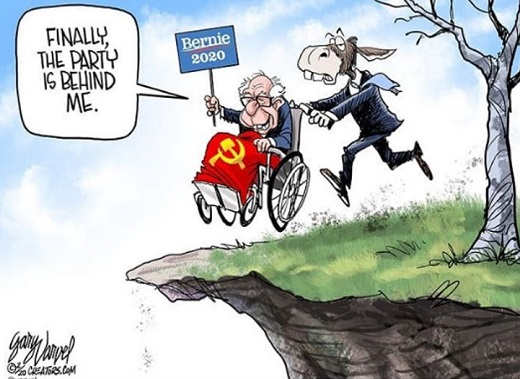 dnc bernie sanders finally party behind me pushing off cliff
