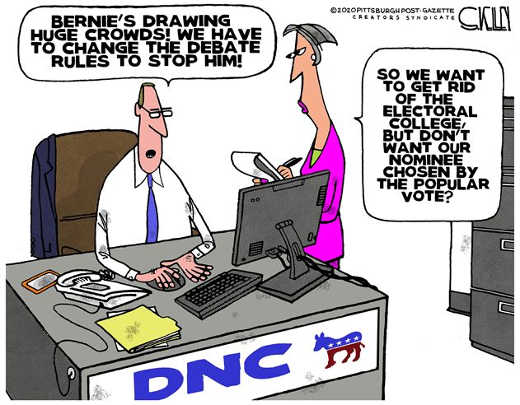 dnc cant let bernie nominee change rules want to eliminate electoral college