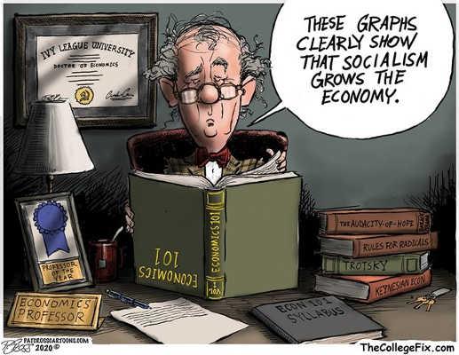 graphic shows socialism grows economy professor upside down economics book