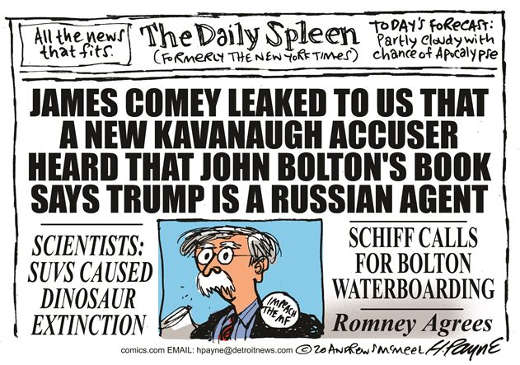 new york times comey leak schiff waterboard bolton romney agrees headlines