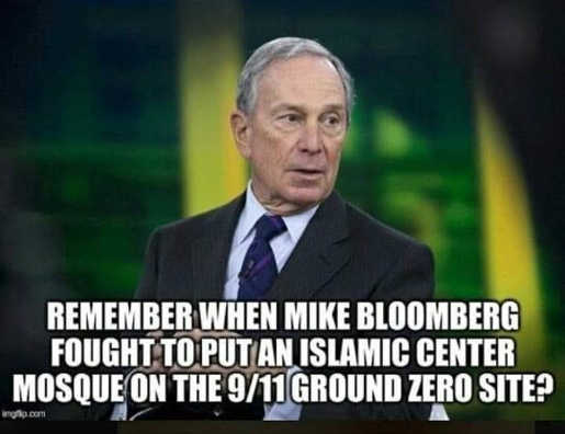remember when bloomberg fought to put islamic center mosque on 911 ground zero site