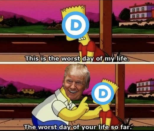 simpsons worst day of my life democrats trump so far