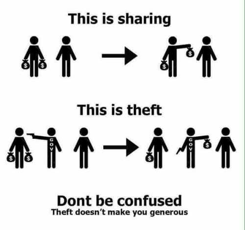 theft compared to government taking theft gun sharing