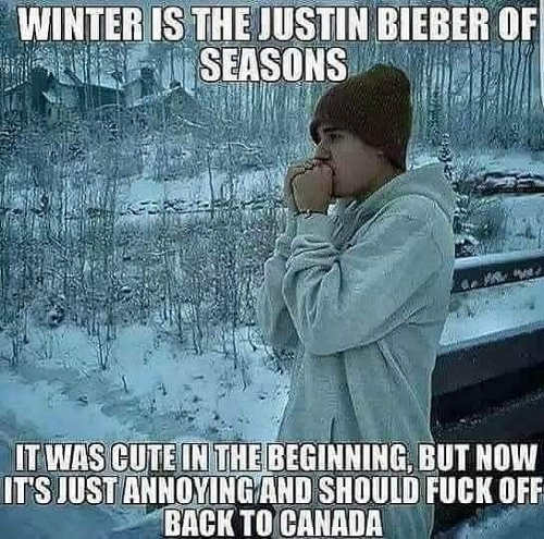 winter like justin in bieber cute in beginning fuck off back to canada