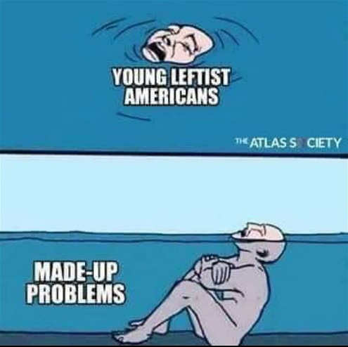 young leftists in america drowning in made up problems shallow water