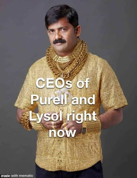ceos of lysol and purell right now gold chains clothing