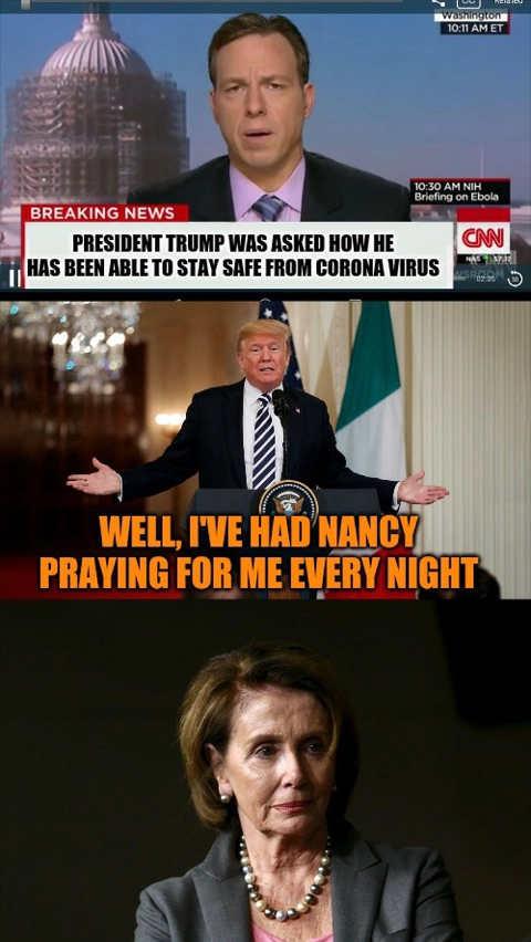 cnn how trump didnt get coronavirus nancy praying for