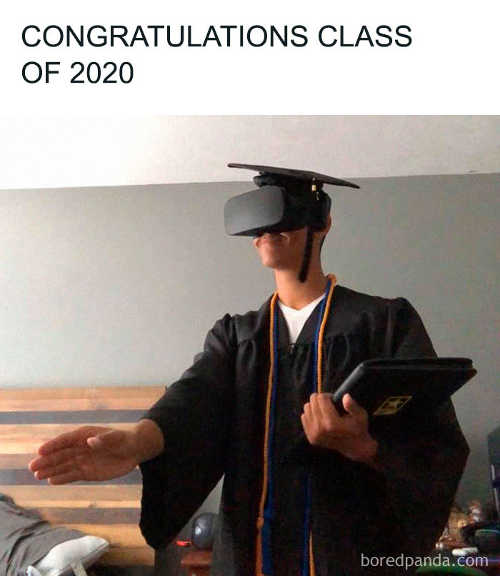 congratulations class of 2020 virtual reality graduation