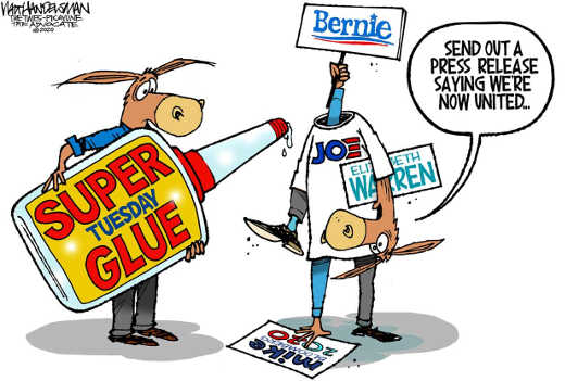 democrats superglue finally party united bernie sanders joe biden