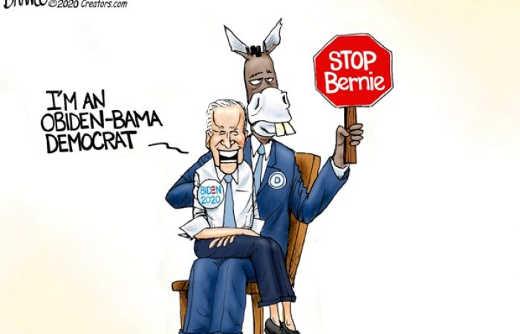 dnc joe biden puppet im obiden bama democrat stop bernie sanders
