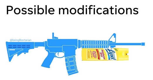 gun modifications lysol disinfectant