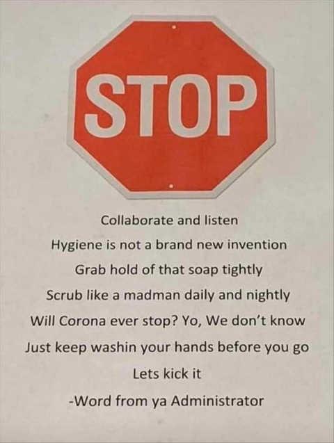 ice ice baby stop collaborate and listen corona virus