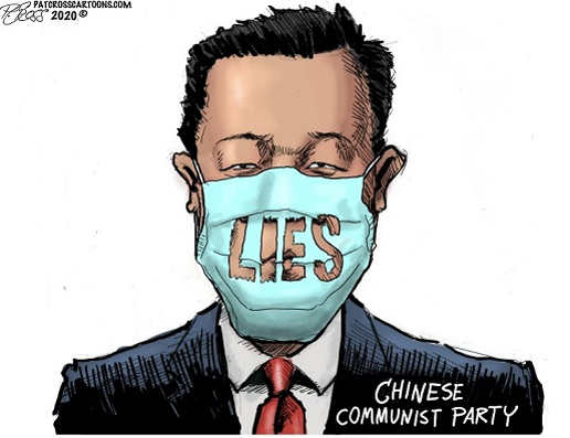 lies mask coronavirus china communist party