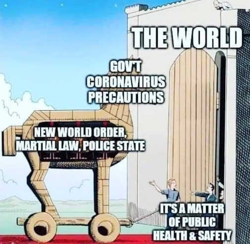 the world coronavirus trojan horse new world order martial law police state