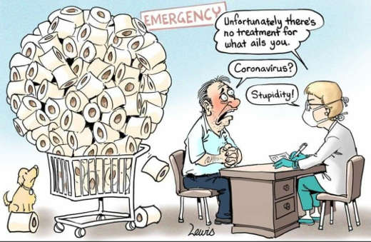 toilet paper in shopping cart doctor cant prescribe cure for stupidity