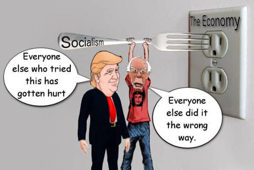 trump everyone who tried socialism got hurt bernie fork outlet did it wrong