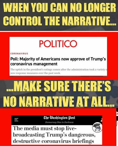 when media cant control narrative washington post media must stop live broadcasting trump briefings