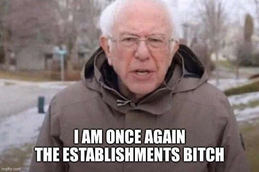 bernie sanders i am once again the establishments bitch